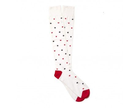 Calzificio Palatino Chaussettes Coton Rouge Multicouleur
