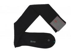 Chaussettes noires Sozzi calze | Uppersocks.com