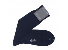 Chaussettes bleu marine Fil d'Ecosse | Uppersocks.com