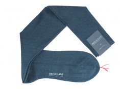 Bresciani over the calf steel blue socks