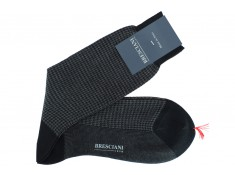 Houndstooth socks by Bresciani | Uppersocks.com