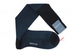 Bresciani cotton lisle blue socks | Uppersocks.com