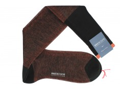 Bresciani double-faced over the calf socks without ribbing