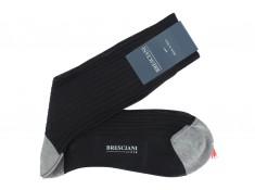 Chaussettes mi-hautes Bresciani noir et gris