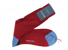 Bresciani mid-height crimson socks