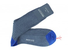 Bresciani cotton lisle over the calf socks