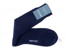 Mid-rise navy blue Bresciani socks
