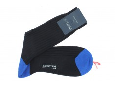 Bresciani navy blue mid-height socks