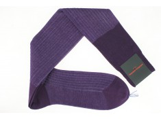 One of our best seller, the Cotton lisle socks dark lilac | Uppersocks.com