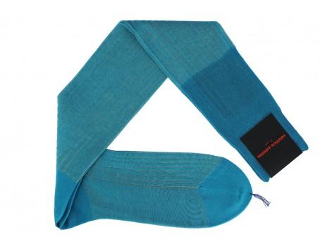 Calzificio Palatino Turquoise - Beige