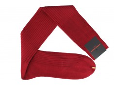 Palatino carmine red, cotton lisle, over the calf socks