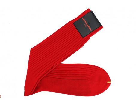 Calzificio Palatino Red socks Fil d'Ecosse