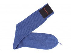 Blue socks, Cotton fil d'Ecosse | Uppersocks.com