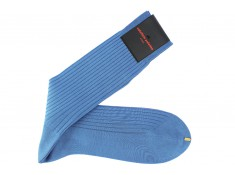 Palatino mid-calf socks in sky blue cotton lisle