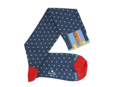 Gallo blue spotted knee-high socks