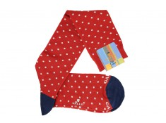 Socks mid-calf Gallo red polka dots white