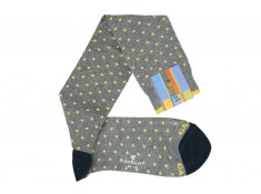 Gallo gray socks gray with yellow polka dots