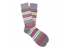 Pantherella cotton ribbed socks grey | Uppersocks.com